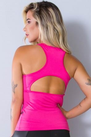 Camiseta Fitness Julia  (Rosa Pink) | Ref: KS-F39-008