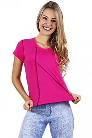 Camiseta de Malha com Ponto de Cobertura | Ref: F1034