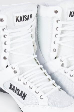Bota Fitness Cano Alto (Branco) | Ref: KS-T28