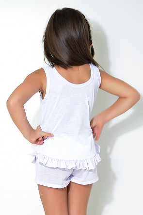 Babydoll Infantil 059 (Lilás com coruja)