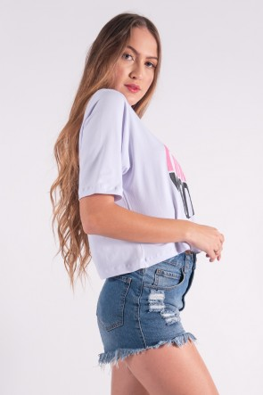 Cropped Maxi com Silk Pink Mood (Branco) | Ref: K2854-B