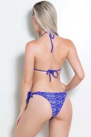 Biquini com Bojo (Losango Violeta / Violeta) |  Lycra de Qualidade | Ref: DVBQ15-003