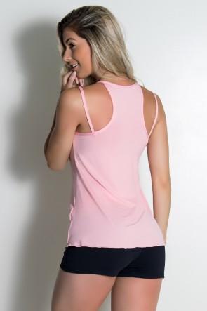 Camiseta de Microlight Nadador com Alça Dupla (Salmão) | Ref: KS-F1022-008