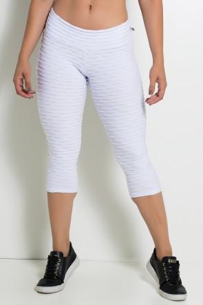 Calça Corsário Tecido Bolha (Branco) | Ref: KS-F105-002