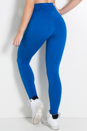 Calça Legging Tecido Bolha Invertida (Azul Royal) | Ref: KS-F119-004