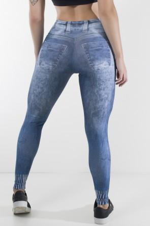 Legging Jeans Sublimada com Detalhe na Perna | Ref: F1230-001