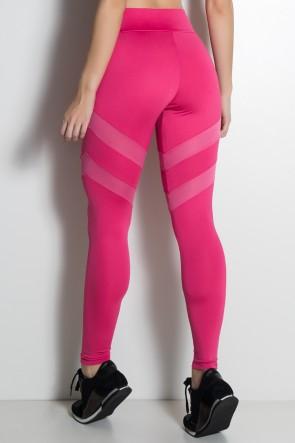 Legging Lisa com Listras Dry Fit (Rosa Pink) | Ref.: KS-F1274-001