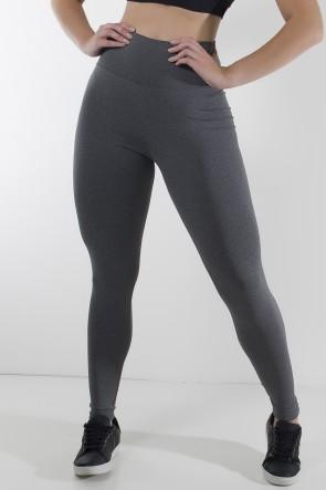 Calça Legging Mescla com Cós Alto | Ref: KS-F129-001