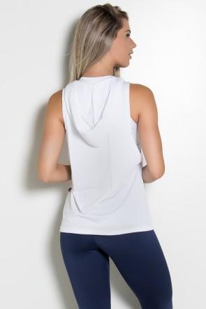 Camiseta Dry Fit com Capuz (Branco) | Ref: KS-F1431-002