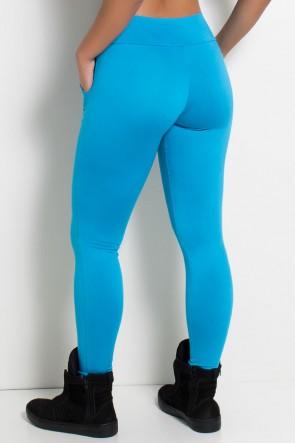Calça Legging Lisa com Bolso (Azul Celeste) | Ref: KS-F146-004