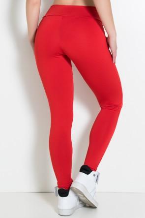 Calça Legging Lisa com Bolso (Vermelho) | Ref: KS-F146-007