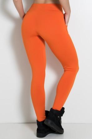 Calça Legging Lisa com Bolso (Laranja) | Ref: KS-F146-008