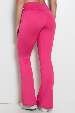 Calça Feminina Flare Boca de Sino (Rosa Pink) | Ref: KS-F150-005