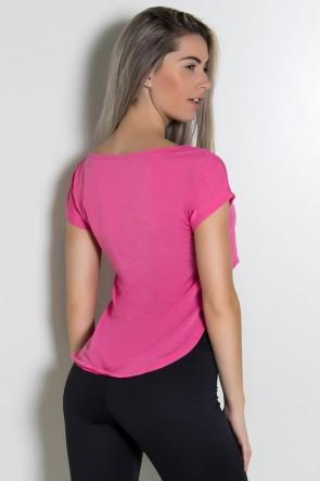 Camiseta Fitness Contem Whey Protein (Rosa Pink) | Ref: KS-F160-002