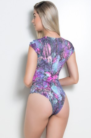 Body Manga Dupla Maysa (Escama Colorida 4) | Ref: KS-F164-006