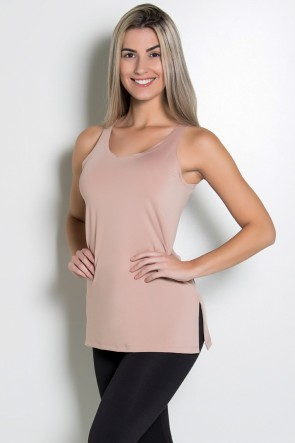 Camiseta de Microlight com Detalhe Lateral (Chocolate) | Ref: KS-F1662-008