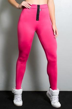 Calça Legging com Fecho na Frente (Rosa Pink) | Ref: KS-F170-002