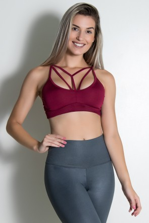 Top Strappy Liso (Vinho) | Ref: KS-F1708-001