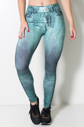 Legging Jeans Verde Sublimada | Ref: KS-F1715-001