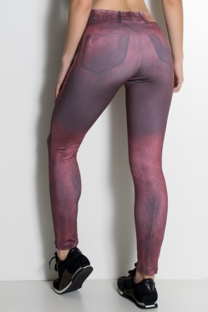 Legging Jeans Vinho Sublimada | Ref: KS-F1715-002