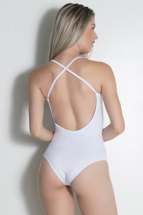 Body Liso com Alça Cruzada (Branco) | Ref: F1768-001