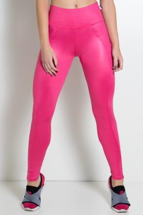 Calça Cirrê Cós Alto Montaria (Rosa Pink) | Ref: KS-F1790-001