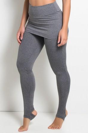Calça Legging Mescla com Tapa Bumbum e Pezinho | Ref: KS-F181