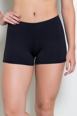 Mini Short Liso (Preto) | Ref: KS-F1844-001