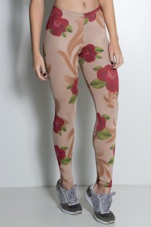 Legging Rosas Vermelhas Sublimada | Ref: KS-F1899-001