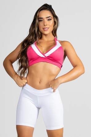 Top (Rosa Pink / Branco) | Ref: KS-F20-018