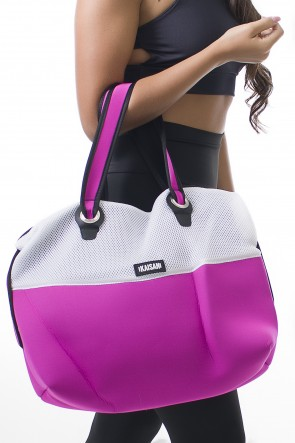 Bolsa London (Rosa Pink / Branco) | Ref: KS-F2001-002