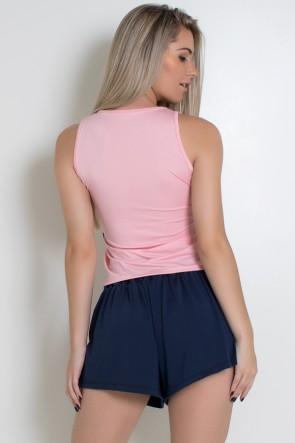 Camiseta Básica de Microlight (Rosa Claro) | Ref: KS-F2021-001