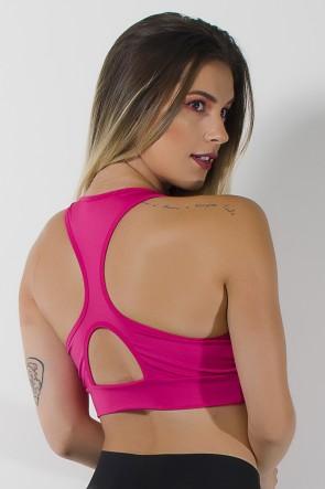 Top Liso com Bojo e Costas Nadador (Rosa Pink) | Ref: KS-F2053-001