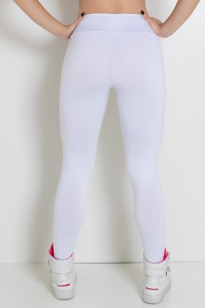Calça Suplex Lisa com Franzido na Perna (Branco) | Ref: KS-F2055-001