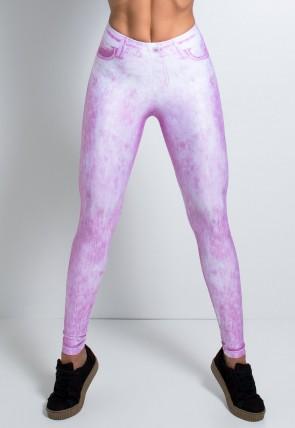 Legging Jeans Rosa Sublimada | Ref: KS-F2147-001