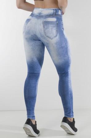 Legging Jeans com Manchas Claras Sublimada | Ref: KS-F2187-001