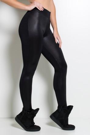 Calça Cós Baixo com Frente Cirrê (Preto) | Ref:F2219-001