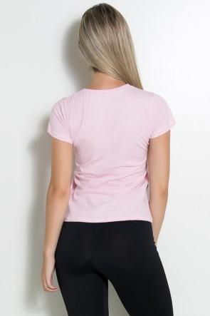 Camiseta Feminina Contém Whey Protein (Rosa) | Ref: KS-F224-001