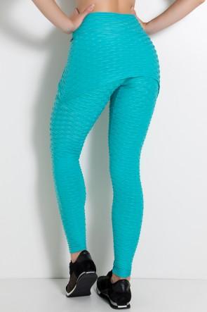 Calça Saia Tecido Bolha (Verde Esmeralda) | Ref: KS-F225-011