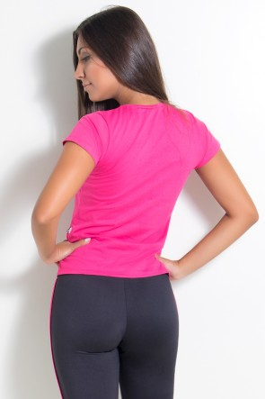 Camiseta Feminina Sore Today Strong Tomorrow (Rosa Pink) | Ref: KS-F226-001