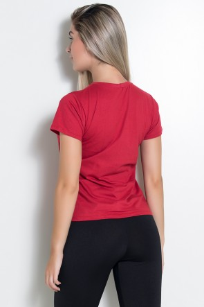 Camiseta Feminina (Sore Today Strong Tomorrow) (Vermelho) | Ref: KS-F226-004