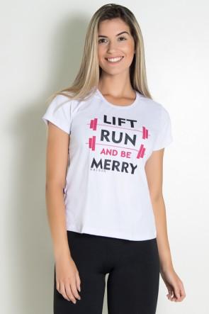 Camiseta Feminina Lift Run and be Merry | KS-F236