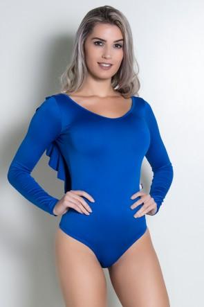 Body Liso Costa Aberta com Babado Giovana| Ref: KS-F241