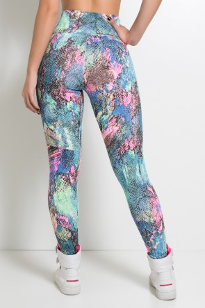 Legging Estampada (Escama Colorida 3) | Ref: KS-F27-048