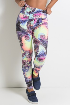 Legging Estampada Espiral Colorido | Ref: KS-F27-071