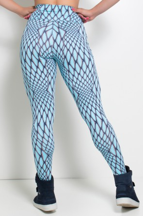 Legging Estampada (Escama Azul)  | Ref: KS-F27-118