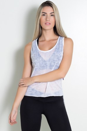 Camiseta Feminina Mullet Kelly Tecido Transparente| Ref: KS-F270