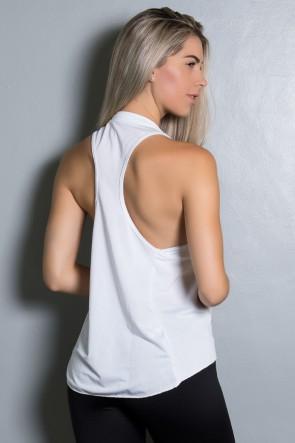 Camiseta Dry Fit com Bolso Marissol (Branco) | Ref: KS-F273-003