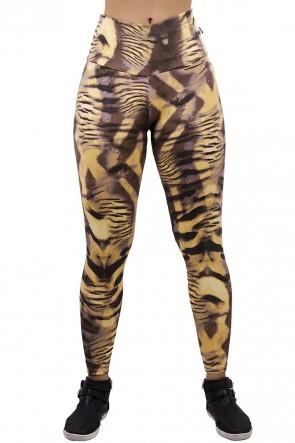 Legging Estampada Tigre Caramelo com Marrom | Ref: CA403