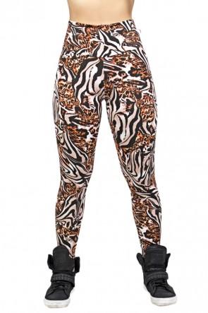 Legging Estampada Tigre Marrom com Onça | Ref: CA413